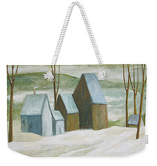 Pond Farm In Winter Weekender Tote Bag