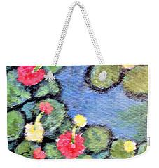 Pond Flowers Weekender Tote Bag