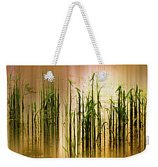 Weekender Tote Bag featuring the photograph Pond Grass Abstract   by Jessica Jenney