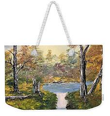 Pond In The Woods Weekender Tote Bag