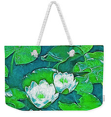 Weekender Tote Bag featuring the photograph Pond Lily 2 by Pamela Cooper