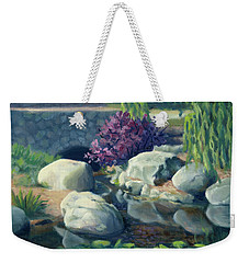 Pond Of Reflection Weekender Tote Bag