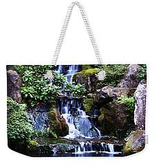 Pond Waterfall Weekender Tote Bag