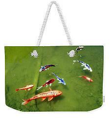 Pond With Koi Fish Weekender Tote Bag by Joseph Frank Baraba
