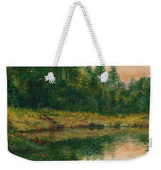 Pond With Spider Lilies Weekender Tote Bag