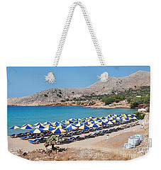 Pondamos Beach On Halki Weekender Tote Bag