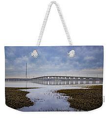 Ponquogue Bridge Hampton Bays Ny Weekender Tote Bag