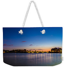 Weekender Tote Bag featuring the photograph Pont Des Catalans And Garonne River At Night by Semmick Photo