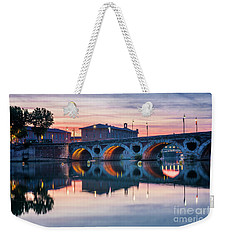 Weekender Tote Bag featuring the photograph Pont Neuf In Toulouse At Sunset by Elena Elisseeva