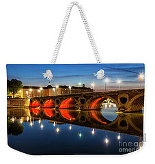 Weekender Tote Bag featuring the photograph Pont Neuf In Toulouse by Elena Elisseeva