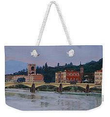 Ponte Vecchio Landscape Weekender Tote Bag