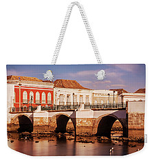 Weekender Tote Bag featuring the photograph Ponte Romana And River Gilao- Tavira by Barry O Carroll