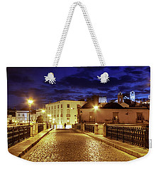 Weekender Tote Bag featuring the photograph Ponte Romana At Blue Hour / Tavira, Portugal by Barry O Carroll
