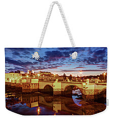 Weekender Tote Bag featuring the photograph Ponte Romana At Dusk - Tavira, Portugal by Barry O Carroll