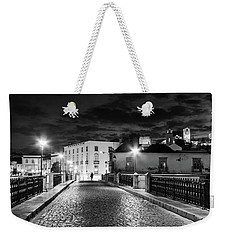 Weekender Tote Bag featuring the photograph Ponte Romana At Night - Tavira, Portugal by Barry O Carroll