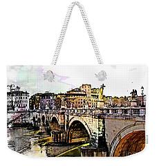 Ponte San Angelo, Rome, Italy Weekender Tote Bag