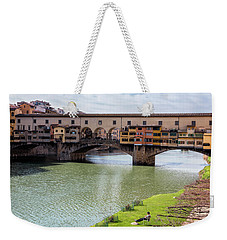 Weekender Tote Bag featuring the photograph Ponte Vecchio Florence Italy II by Joan Carroll