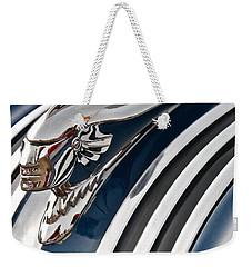 Pontiac Chief Hood Ornament Weekender Tote Bag by Linda Bianic