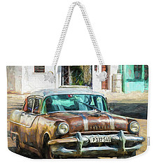 Weekender Tote Bag featuring the photograph Pontiac Havana by Lou Novick