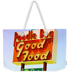 Poodle Dog Diner Weekender Tote Bag by Kathleen Grace