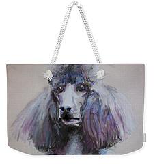 Poodle In Blue Weekender Tote Bag
