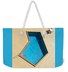 Weekender Tote Bag featuring the photograph Pool Modern by Laura Fasulo