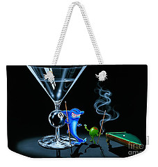Pool Shark Weekender Tote Bag by Michael Godard