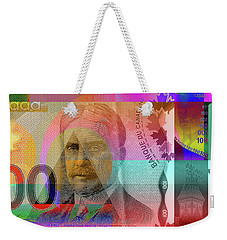 Pop-art Colorized New One Hundred Canadian Dollar Bill Weekender Tote Bag