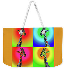 Pop Art Giraffe Weekender Tote Bag