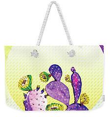 Pop Cacti - Purple Yellow Weekender Tote Bag