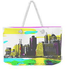 Pop City Skyline Weekender Tote Bag