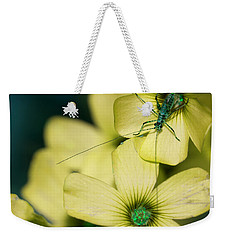 Weekender Tote Bag featuring the photograph Pop Macro No. 2 by Laura Melis