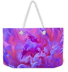 Pop Pink Peony Weekender Tote Bag