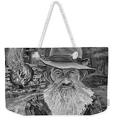 Popcorn Sutton - Black And White - Rocket Fuel Weekender Tote Bag