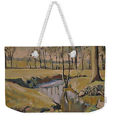 Poplars And Mistletoe Along The River Geul Cottessen Weekender Tote Bag