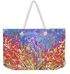 Poppies Abstract Meadow Painting Weekender Tote Bag