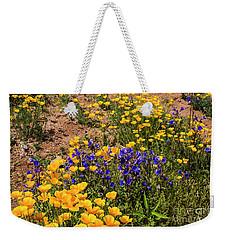 Poppies And Blue Bells Weekender Tote Bag