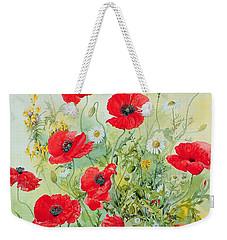Poppies And Mayweed Weekender Tote Bag by John Gubbins