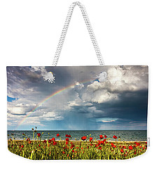 Poppies And Rainbow By The Sea Weekender Tote Bag