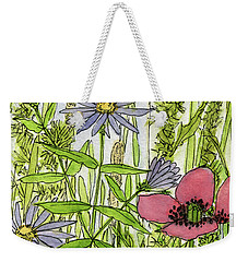 Poppies And Wildflowers Weekender Tote Bag