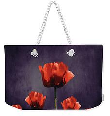 Poppies Fun 01b Weekender Tote Bag