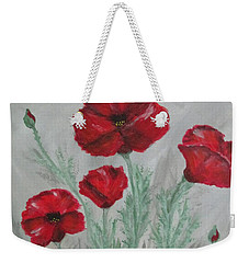 Poppies In The Mist Weekender Tote Bag
