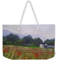 Poppies In Tuscany Weekender Tote Bag