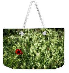 Poppies In Wheat Weekender Tote Bag by Raffaella Lunelli