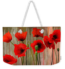 Weekender Tote Bag featuring the painting Poppies  by Ivana Westin