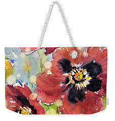 Poppies Weekender Tote Bag by Judith Levins