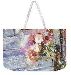 Poppies On Weathered Door Weekender Tote Bag by Shirley Stalter