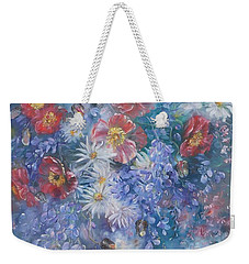 Poppies, Wisteria And Marguerites Weekender Tote Bag