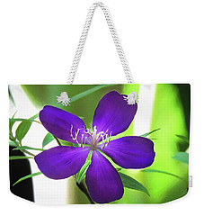 Poppin Purple Flower Weekender Tote Bag