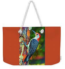 Popping Color Woodpecker Weekender Tote Bag